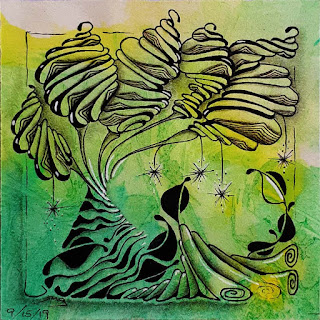 Hump Day #13 with Tangle Patterns: Narwal, Diva Dance, Ruutz, Coffeebean Flower/Damsel Leaf