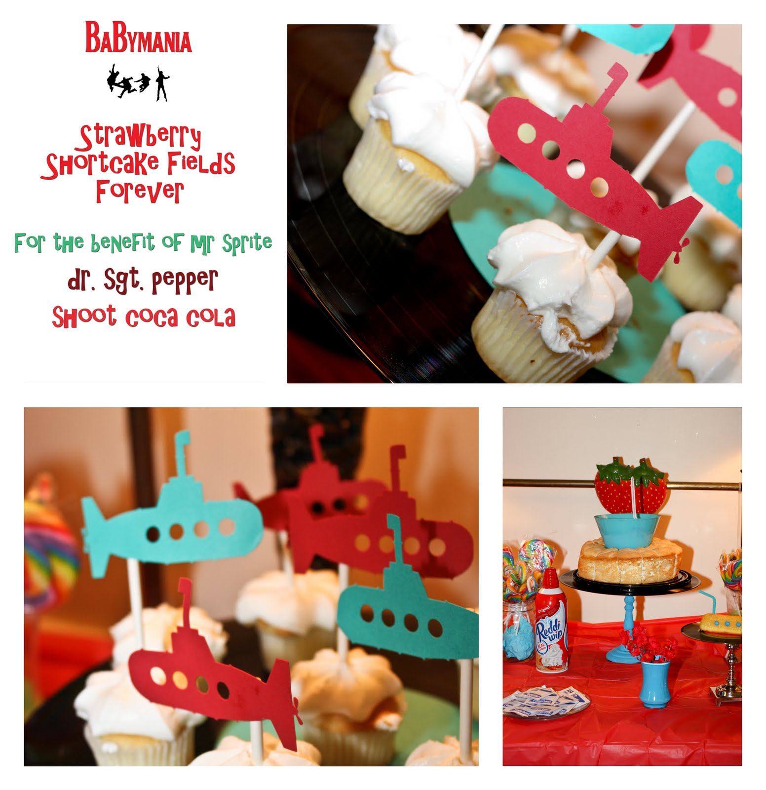 Beau Monde Blog: {BaByMania} Beatles Themed Baby Shower