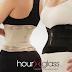 Hour glass waist training belt