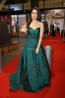 Raashi Khanna in Dark Green Sleeveless Strapless Deep neck Gown at 64th Jio Filmfare Awards South ~  Exclusive 157.JPG