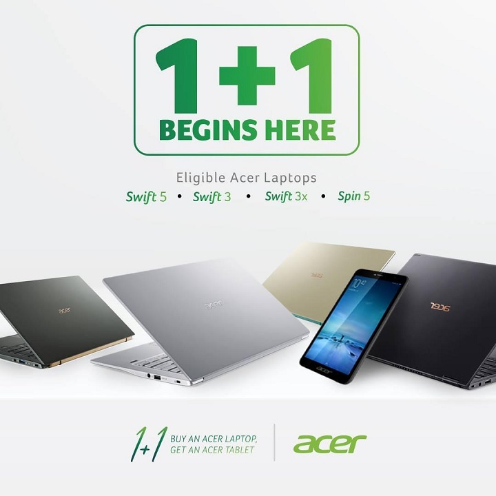 Avail #AcerOnePlusJuan promo until June 15 and get a FREE Acer tablet