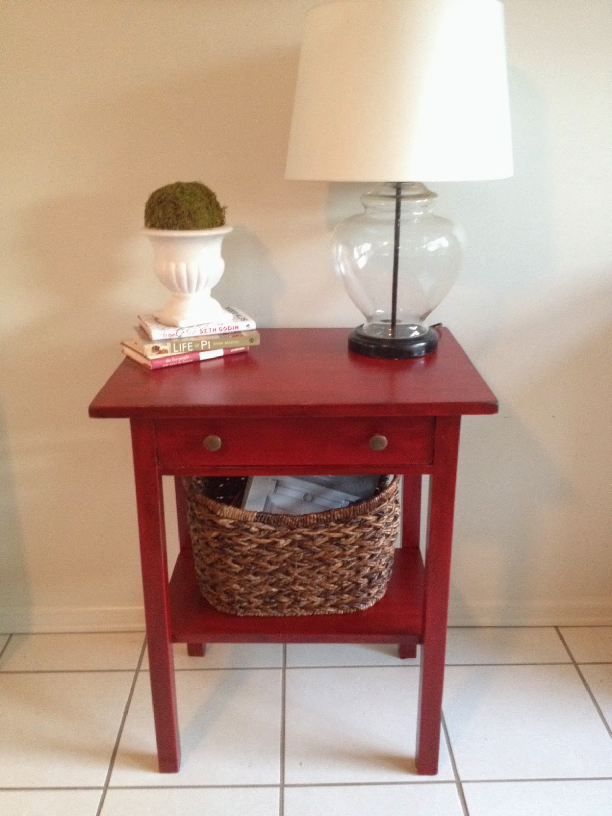 Tisch Lackieren Two It Yourself: 'antique' Painted Table Using Stain Over