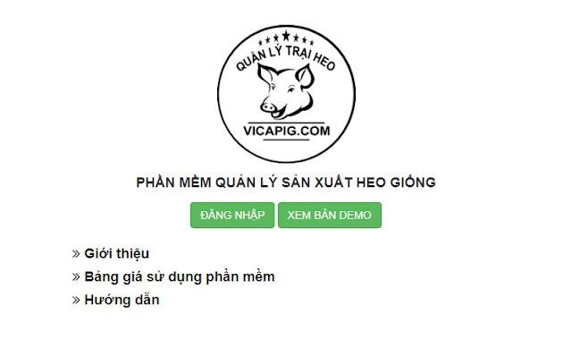 Vicapig - Phần mềm quản lý sản xuất lợn giống