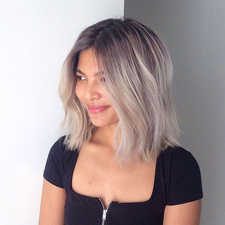 short hair ombre brown