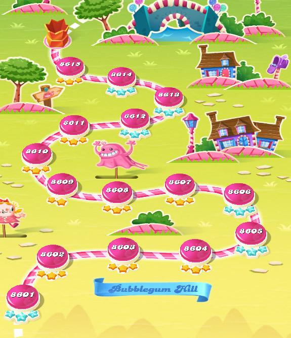 Candy Crush Saga level 8601-8615