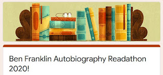 Ben Franklin Autobiography Readathon 2020 - Jan 16