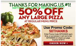 free Papa Joes Pizza coupons february 2017