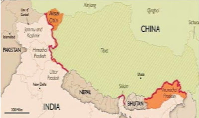 भारत चीन विवादित क्षेत्र