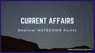 Current Affairs One Liners - 11th December 2017