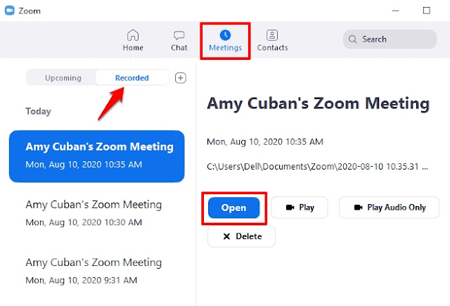 how to share a recorded zoom meeting