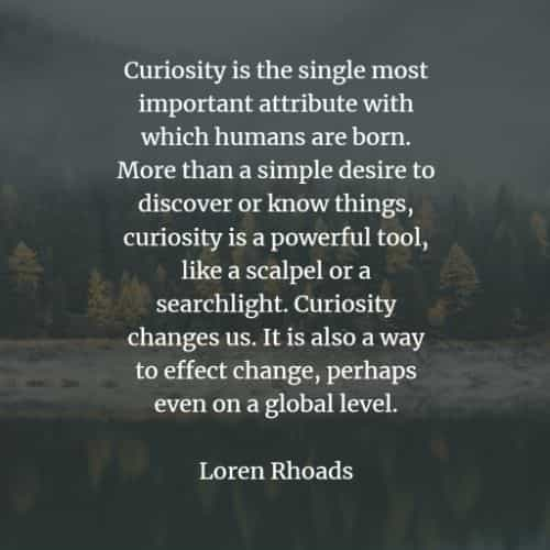 Curiosity quotes and sayings that will improve yourself