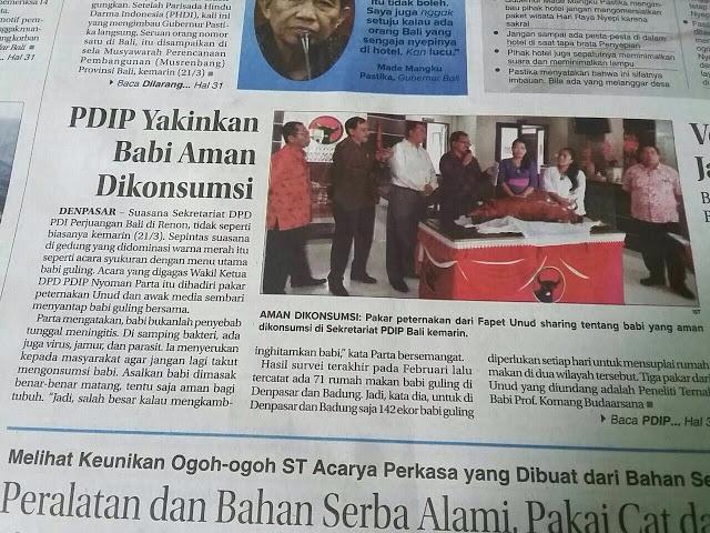 Astaghfirullah! PDIP Yakinkan Babi Aman Dikonsumsi