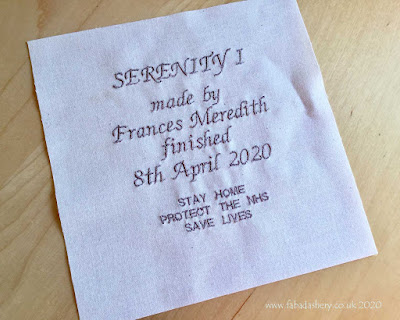 Fabadashery Quilt Label Service