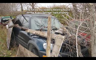 Teresa Halbach's 1999 Toyota RAV4 as found on Avery's property