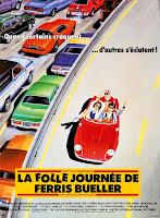 affiche française de LA FOLLE JOURNEE DE FERRIS BUELLER, french poster