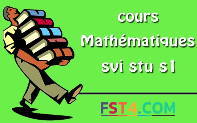Mathématiques svi stu S1 pdf