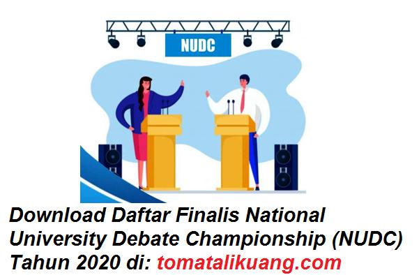 Daftar Finalis National University Debate Championship (NUDC) Tahun 2020 tomatalikuang.com