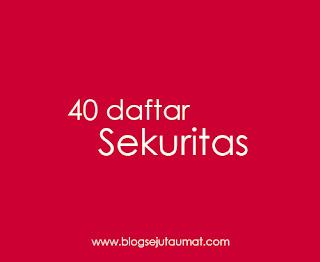 40 Daftar Lengkap Sekuritas di Indonesia