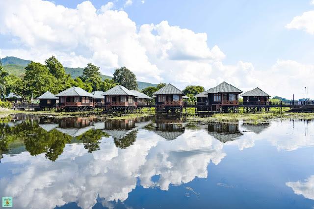 Nuestro hotel en el lago Inle, Myanmar