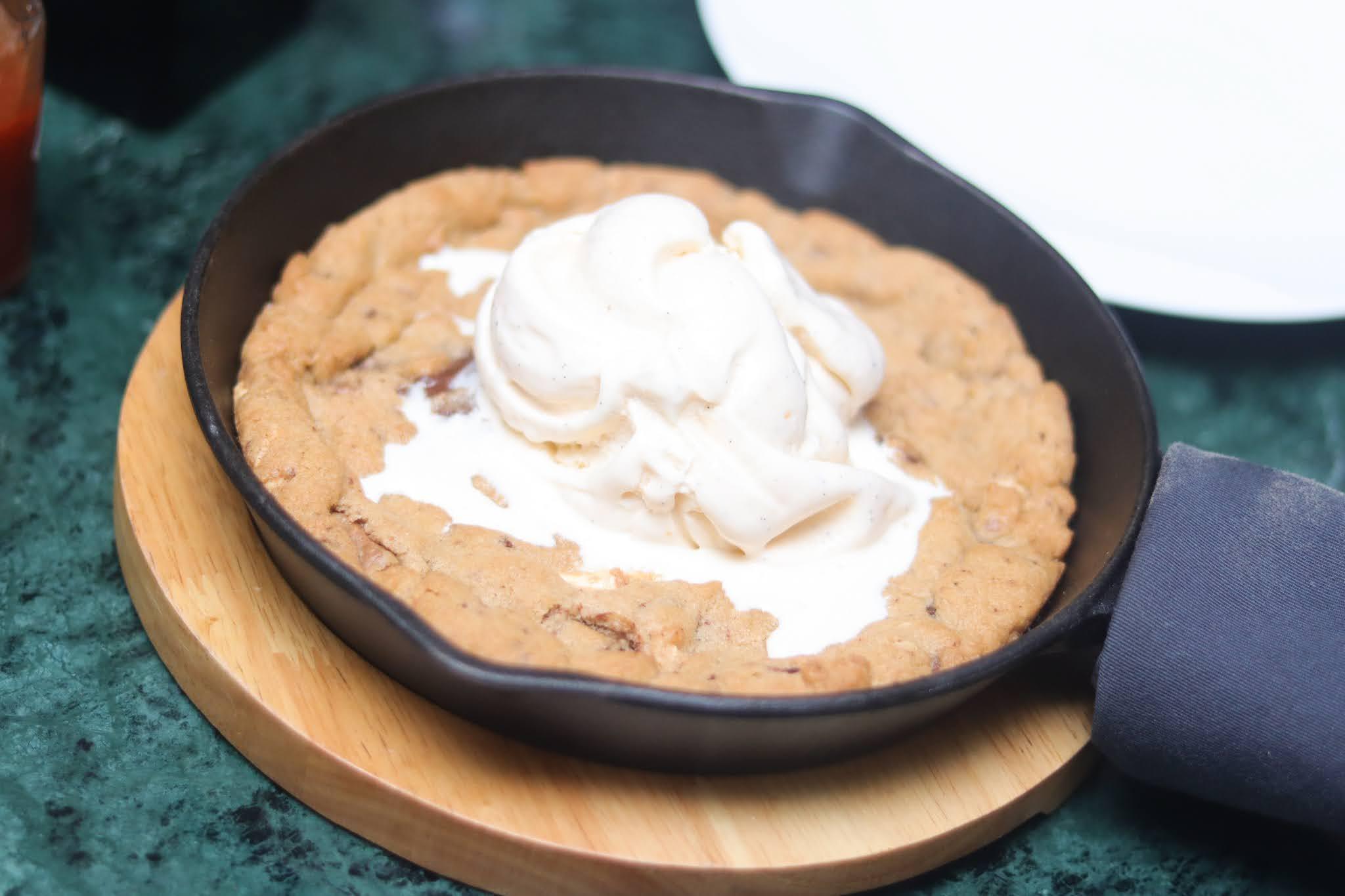 warm cookie and icecream