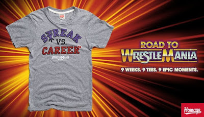"Road to WrestleMania Week 8 ""Streak vs Career"" WrestleMania XXVI T-Shirt by Homage x WWE"