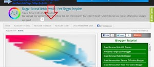 Tutorial bikin menu horizontal di blogger