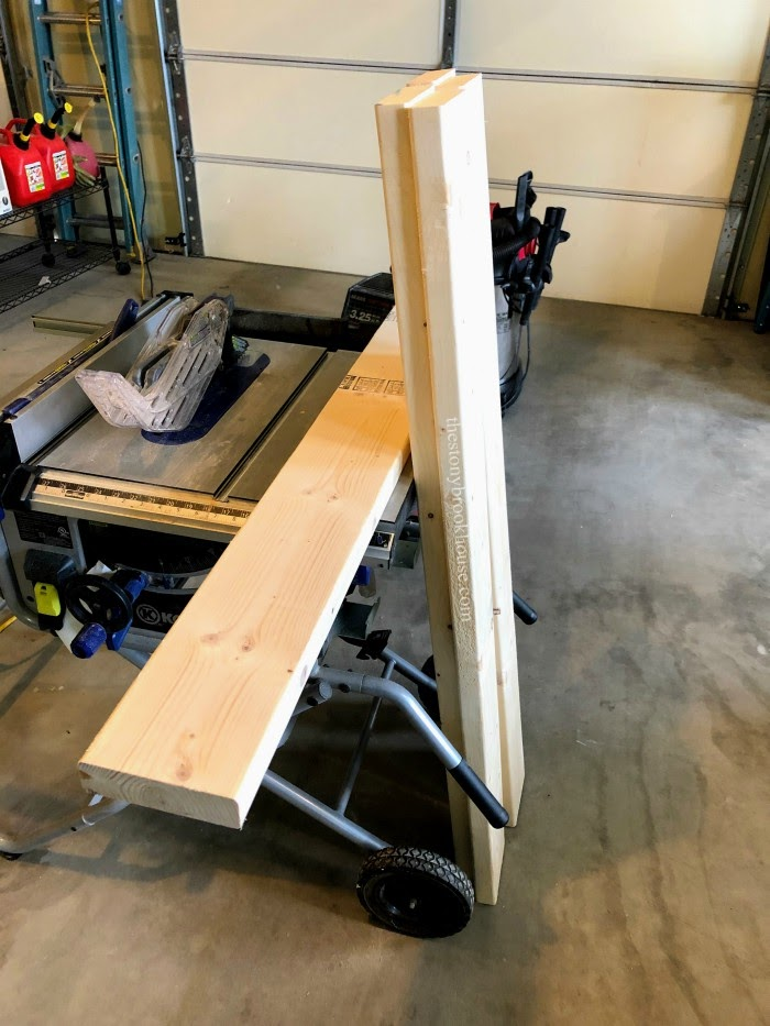 Cut 5 boards for coffee table top
