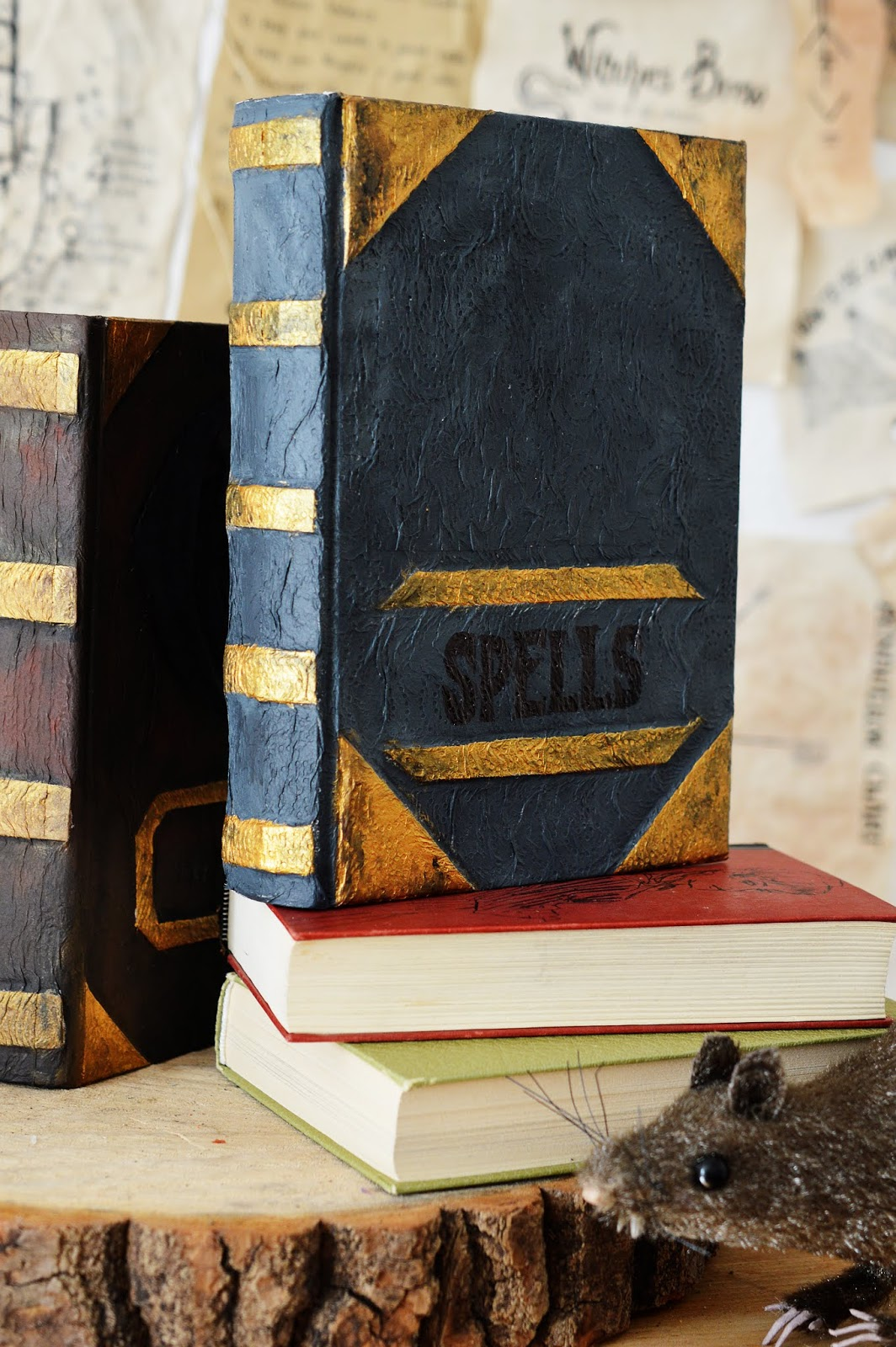 front cover of a DIY Papier-Maché Spell Book