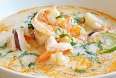 وصفات طبخ حساء جوز الهند والجمبرى التايلاندى
