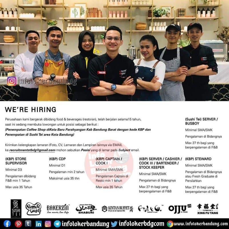 Lowongan Kerja Sushi Tei Group Bandung Februari 2021