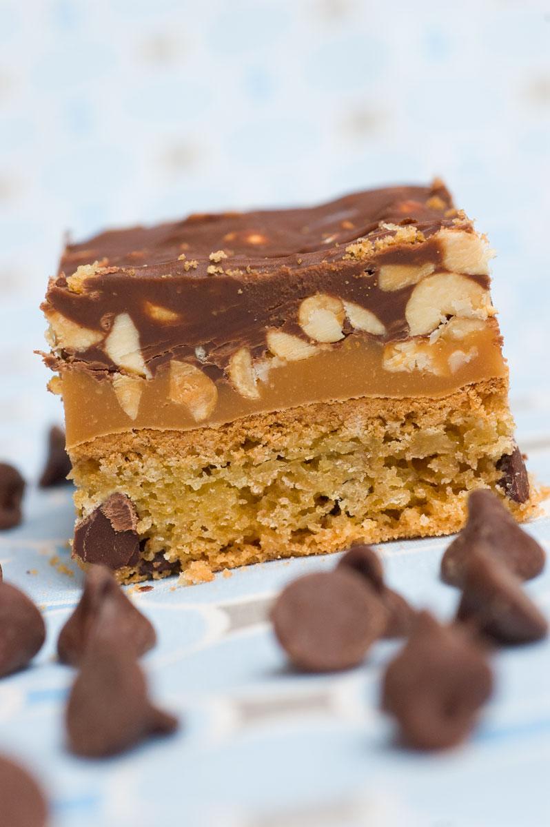 Chocolate Cake Mix Caramel Bits Bars