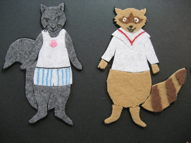 Flannel Board Fun Squirrel Raccoon Clothes