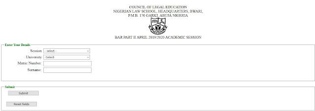 Nigerian Law School Eligible Applicant List Checker 2020 | Bar I & II
