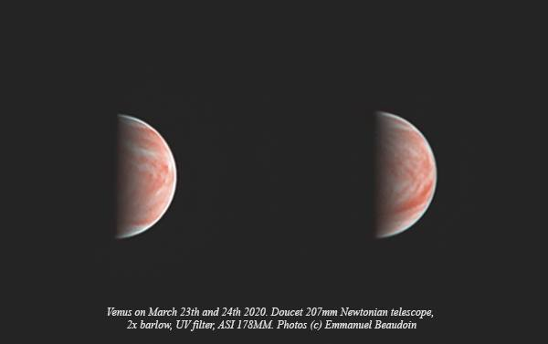 High-Resolution images of Venus taken by Amateur Astronomer with a 8