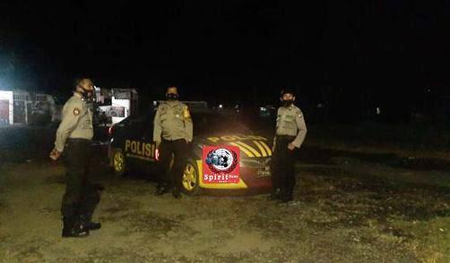 Cegah Gangguan Kamtibmas Personil Polsek Polut Intens Gelar Patroli Blue Light