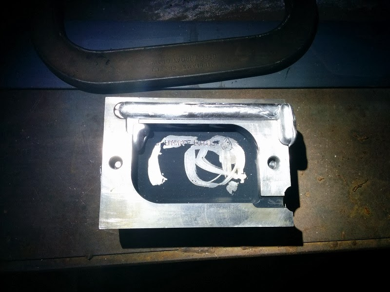 incompletely filled die casting mold