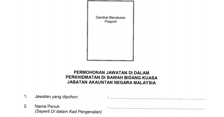 Jawatan Kosong di Jabatan Akauntan Negara JANM