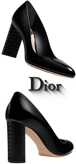 Black Dior Blockheel Pumps #brilliantluxury
