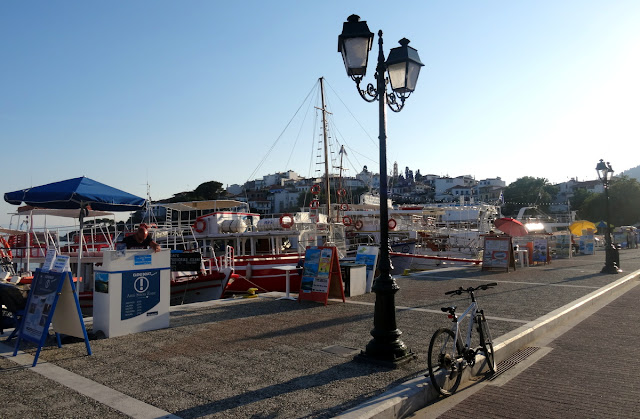 Boat tours on the Old Port of Skiathos