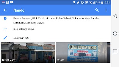Tempat Kost Terdekat Kampus UIN Raden Intan Lampung Dan ITERA