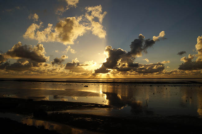 Sonnenuntergang am Norddeich.