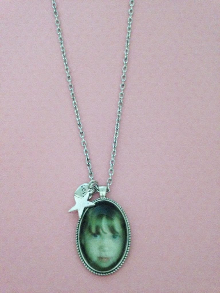 Photo necklace close up