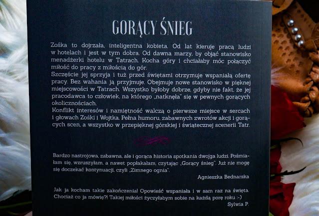"""Opis ksiażki """"Gorący Śnieg"""" Moniki Ligi - Motylewnosie.pl"""