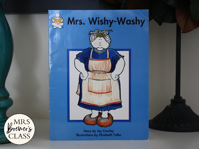 Mrs Wishy Washy book study literacy unit with Common Core aligned companion activities and a class book for K-1