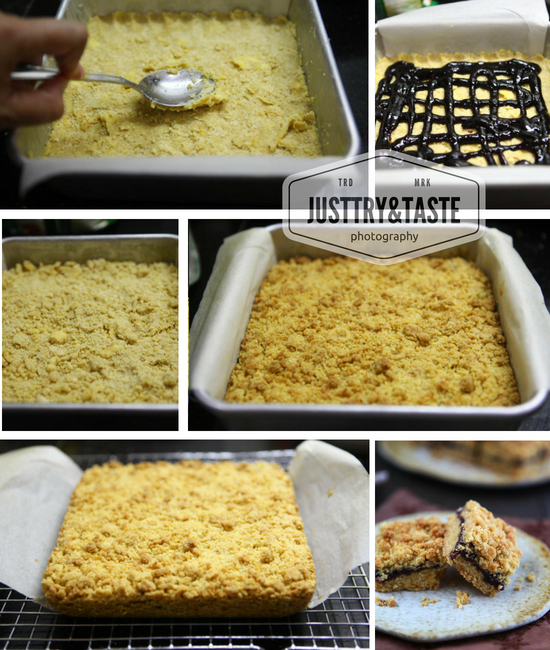 Resep Blueberry Crumble Bars