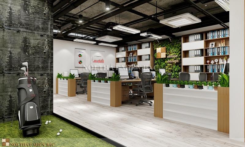 Thiết kế nội thất văn phòng công ty với cách trang trí ấn tượng