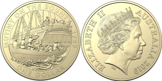 Australia 1 dollar 2019 - Mutiny and Rebellion - Mutiny on the Bounty