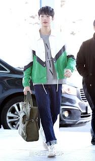 Guanlin Wanna One airport fashion
