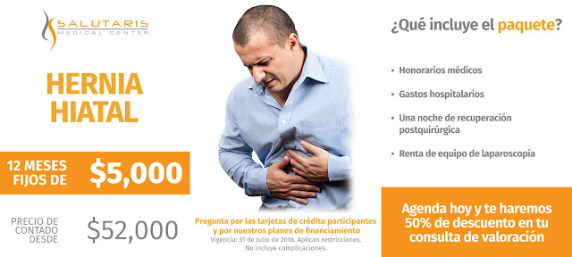 Precio Cirugia Hernia Hiatal Laparositis Funduplicatura Guadalajara Mexico