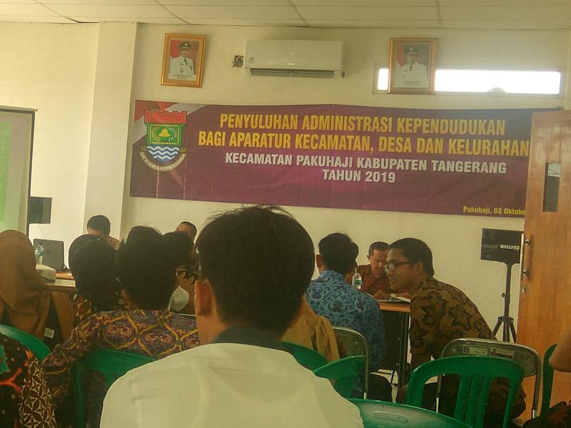 Kecamatan Pakuhaji  Gelar Penyuluhan Administrasi Kependudukan Untuk Dsa/Kelurahan i